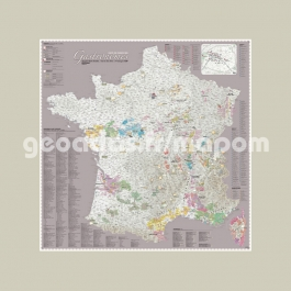 Carte de France des Gastronomes Mastic