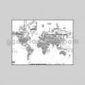 Typographical World Map